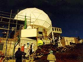 2001年8月、役目を終えたドームの解体作業が行われた