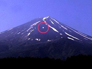 富士山の雪形 「たまご」