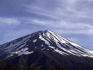 富士山の雪形 「鹿の子まだら」