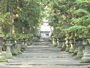 北口本宮冨士浅間神社の参道