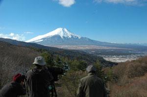 二十曲峠から望む富士山