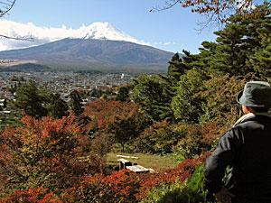 富士見孝徳公園から眺める富士山