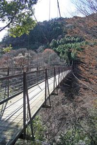 映画の撮影で使われたつり橋