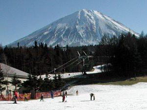 ふじてんスノーリゾートからの富士