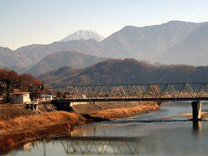 月見橋からの富士