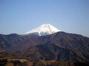 身延山奥之院思親閣からの富士