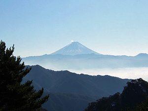 昇仙峡パノラマ台からの富士