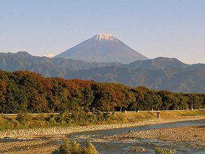 信玄橋からの富士