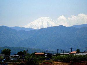 中央市井之口からの富士