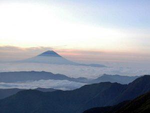 北岳からの富士