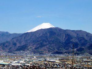 塚原山フルーツ農場からの富士