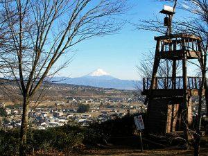 須玉ふるさと公園からの富士