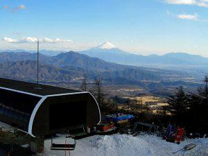 サンメドウズ清里スキー場からの富士