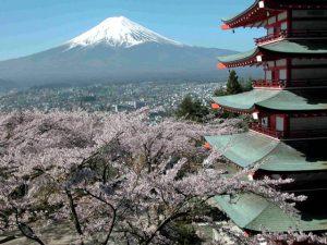 新倉山浅間公園・忠霊塔からの富士