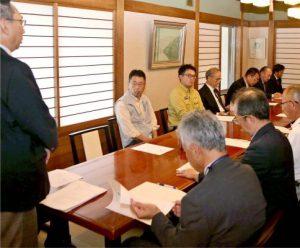 富士山環境美化清掃終了奉告祭の日程などを確認した常任実行委員会=富士吉田市内