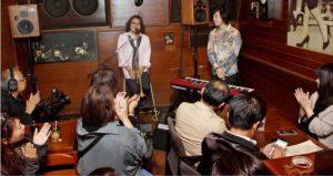 ジャズの演奏が披露された音楽イベント=富士吉田市下吉田3丁目(9月)