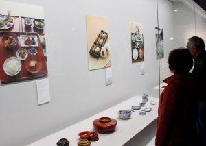 御師料理を紹介している企画展=富士吉田・ふじさんミュージアム