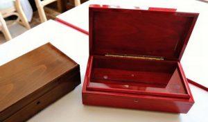 ふるさと納税の返礼品に加わったオルゴール=富士河口湖・河口湖音楽と森の美術館