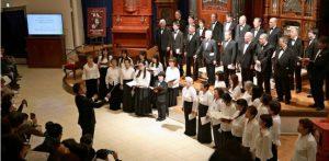 特別合唱団50人「歓喜の歌」披露