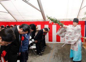 富士吉田南SIC工事の安全を祈願