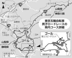 東京五輪自転車男子ロードレースの県内コース詳細