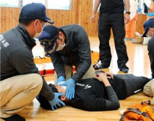 感染者想定で合同救助訓練