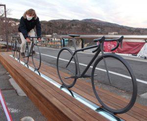 自転車競技振興へモニュメント