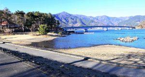マラソンコース発着点となる大池公園=富士河口湖町内